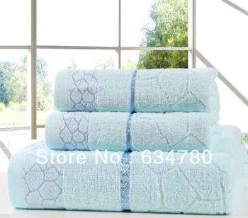 Three-piece towel set Water Cube Cotton Towel Face Towel