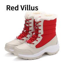 BIMUDUIYU Weibliche Winter Frauen Schnee Stiefel Mid-kalb Stiefel Halten Warme Schuhe Plattform Wasserdicht Plüsch High Cut Schuhe Winter stiefel(China)