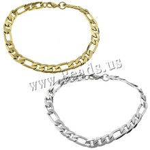 Buy Women Men Chain Bracelet Silver Gold Color Figaro Chain Stainless Steel Bangle Jewelry Accessories Friendship Wristbands for $1.31 in AliExpress store