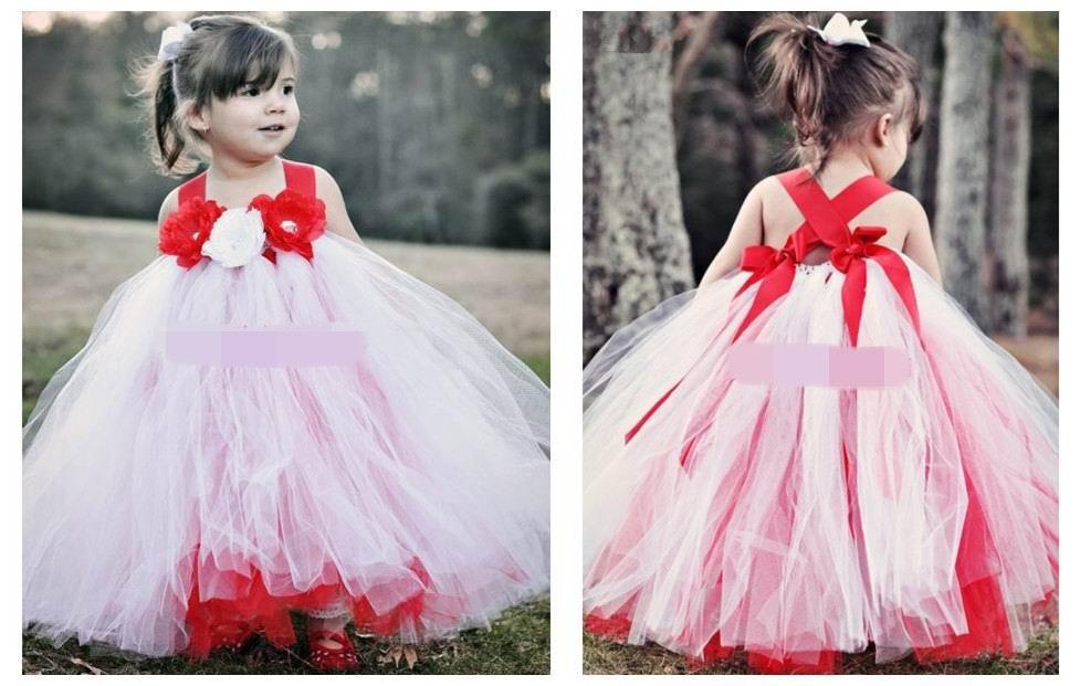 ручной работы пользовательских 2015 новых девушка пачка платье Цветочница платье исполняющей танец платье 2-8Т 1103