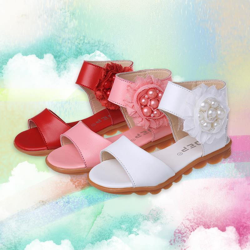 2015 New Summer Shoes Leather Sandals Children Girls Pearl Korean Children's Princess Wave Students Kids F206 - Hangzhou Dolda Tech. Co., Ltd. store