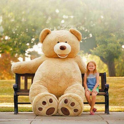 200CM 78''inch giant stuffed teddy bear big large huge brown plush stuffed soft toy kid children doll girl christmas gift(China (Mainland))