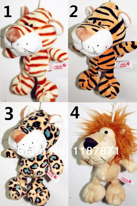 Free shipping/Hot sale NICI plush and stuffed toy tiger with sucker,can be sucked on glass,20cm,1pc(China (Mainland))