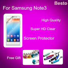 Screen Protector for Samsung Note3 screen protector accessory bundles Protective Film with Retail Package Screen Film