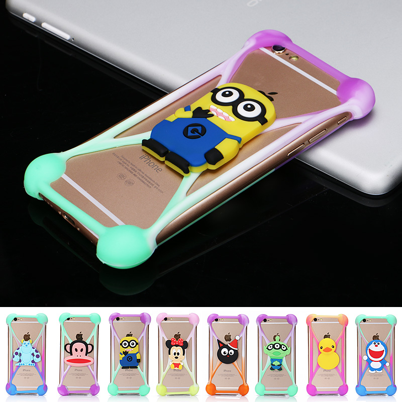2016 3D Cartoon Universal Phone Frame Silicone Colorful Bumper For Iphone 5S 6 6S Case For Samsung Galaxy LG Huawei Moto(China (Mainland))
