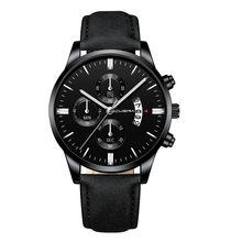 2019 Relogio Masculino montres hommes mode Sport boîte en acier inoxydable bracelet en cuir montre Quartz affaires montre-bracelet Reloj Hombre(China)