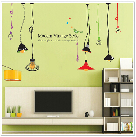 Light Bulb Porch Corridor Wall Stickers Sofa Background Decorating Decals Size 50*70cm - DIY Decoration Sky store
