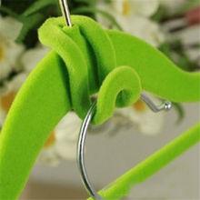 10 pcs Clothes Hanger Home Creative Easy Hook Mini Flocking Closet Organizer Random Color(China (Mainland))