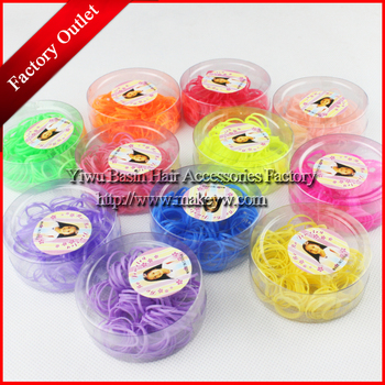 Free shipping 12box /lot  Candy color rubber band for kids Good quality rubber ponytail holder New arrival hair accessories tie