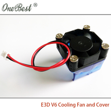 E3DV6 3010 cooling fan with cover 3d printer accessories DIY E3D V6 injection molding radiator cooling fan cover 30*30*10mm(China (Mainland))