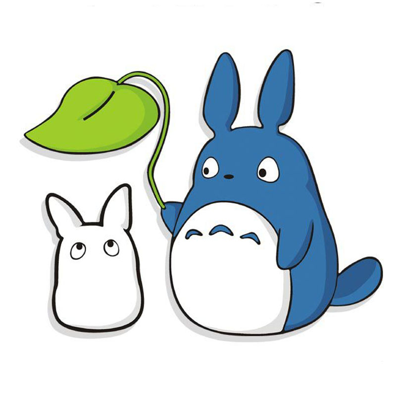 Totoro figurine small stickers for kids room 2016 new for Stickers muraux