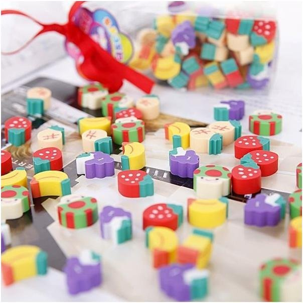 Mini Fruit Eraser School and Office Stationery--Best Gift Novelty Toy Free Shipping 2500Pcs/Lot