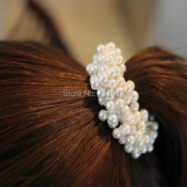 1pc Craft woven beads elastic hair ring Headband Hair rubber for Women hair Accessories Hair Ornaments(China (Mainland))