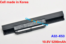 5200mAh Korea Cell Original Battery A32-K53 for ASUS K43 K43E K43J K43S K43SV K53 K53E K53F K53J K53S K53SV A43 A53S A53z A53SV (China (Mainland))