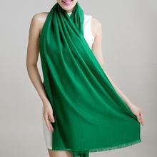 Pashmina cashmere Silk shawl solid 200*60cm echarpe luxury designer scarf winter 2015 womens fall fashion thick scarf brand Free(China (Mainland))