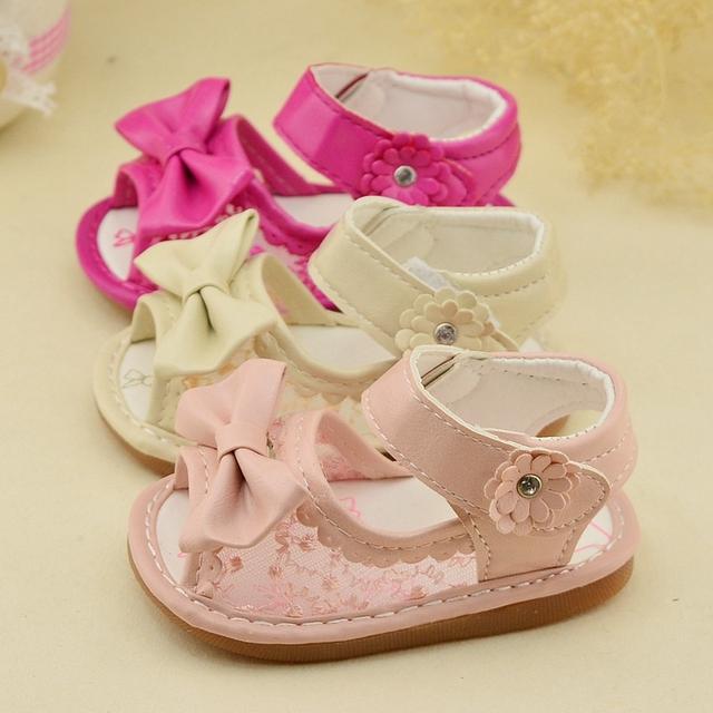 Sapato bebe летние девочки кружева боути цветок принцесса сабо дети сандалии Toddles ...