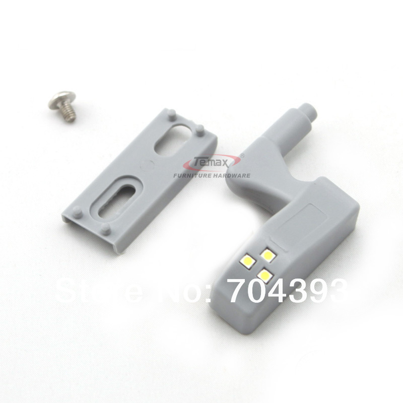 10pcs/lot led hinge light Kitchen Bedroom Living room Cabinet Cupboard Closet Wardrobe Hinge LED Light System Grey(China (Mainland))