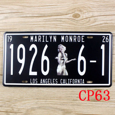 CP63 1926 6-1 Monroe Vintage Car License Plate Metal Tin Signs Bar Pub Cafe Home Art Metal Signs Size:15*30cm(China (Mainland))