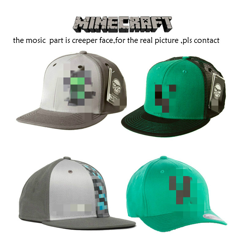 Baby Hat Minecraft Cap Girls Boy Sport Military Cap Minecraft Creeper Hats Photography Props Summer Cowboy Sun Beach Hat wqy88(China (Mainland))