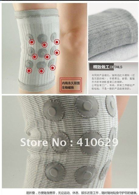 2012 New High Quality  Cotton&Magnet Flexible infrared Knee protect Support Kneepads abdominal binder