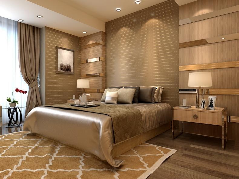 Empapelar pared cabecero dormitorio top no solamente puedes usar pintura tambin el empapelado - Top dormitorios ...