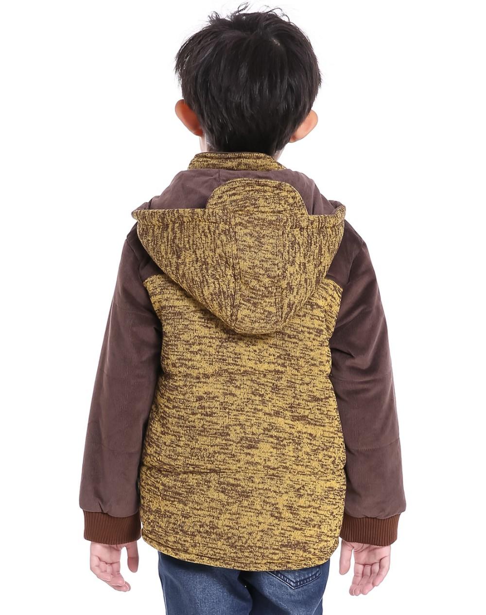 Скидки на Для 1-5 Yrs Дети Детские Мальчики Зимой толстые с капюшоном хлопка ватник пальто одежды дети мальчики теплый Лоскутное трикотаж верхняя одежда