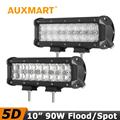Auxmart 90W 10 CREE Chips 5D LED Light Bar Flood Spot Beam Led Light Fit Truck