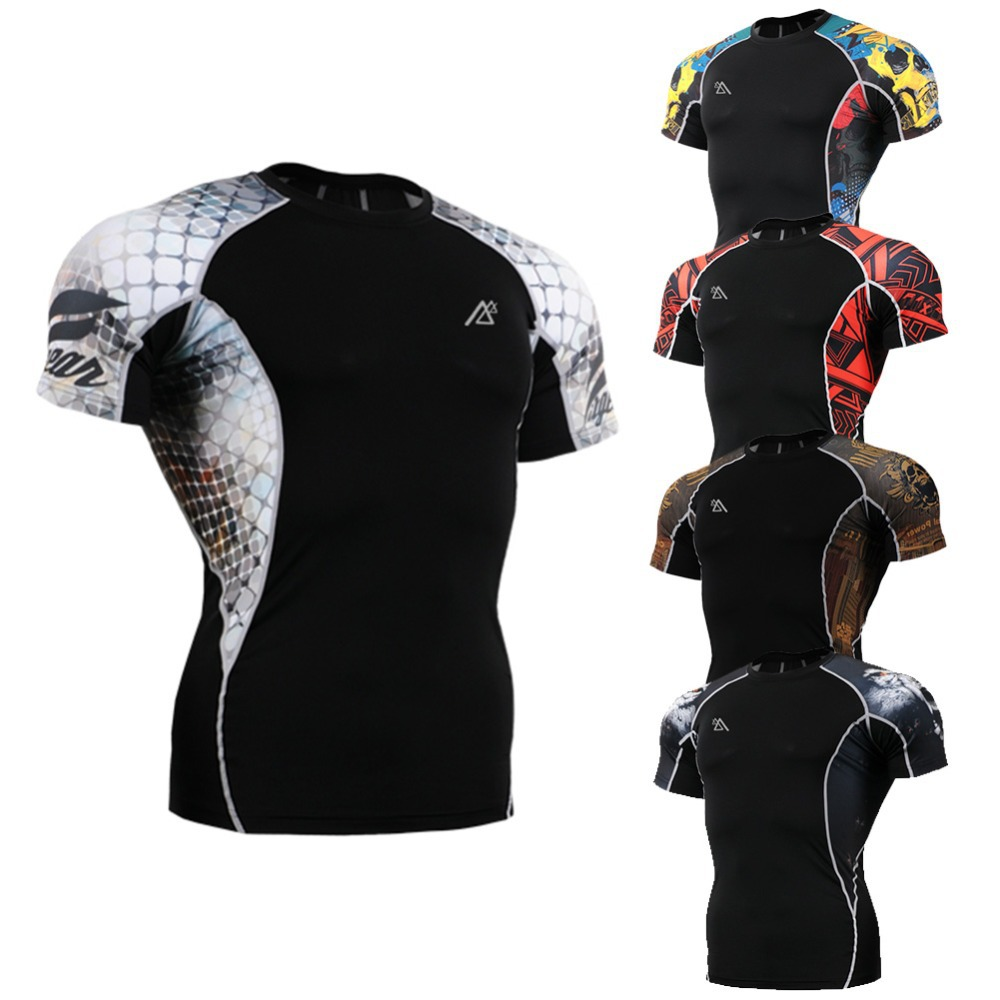 Men`s Fashion Short Sleeve Second Skin Fitness Running Compression Shirt Quick Dry Ultralight Training Workout Yoga Tops Tees(China (Mainland))