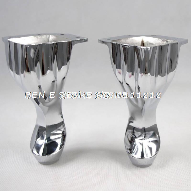 5 6 Set Metal Furniture Cabinet Legs Tea Table Bed Chair Sofa Leg Feet 4pcs In Furniture Legs