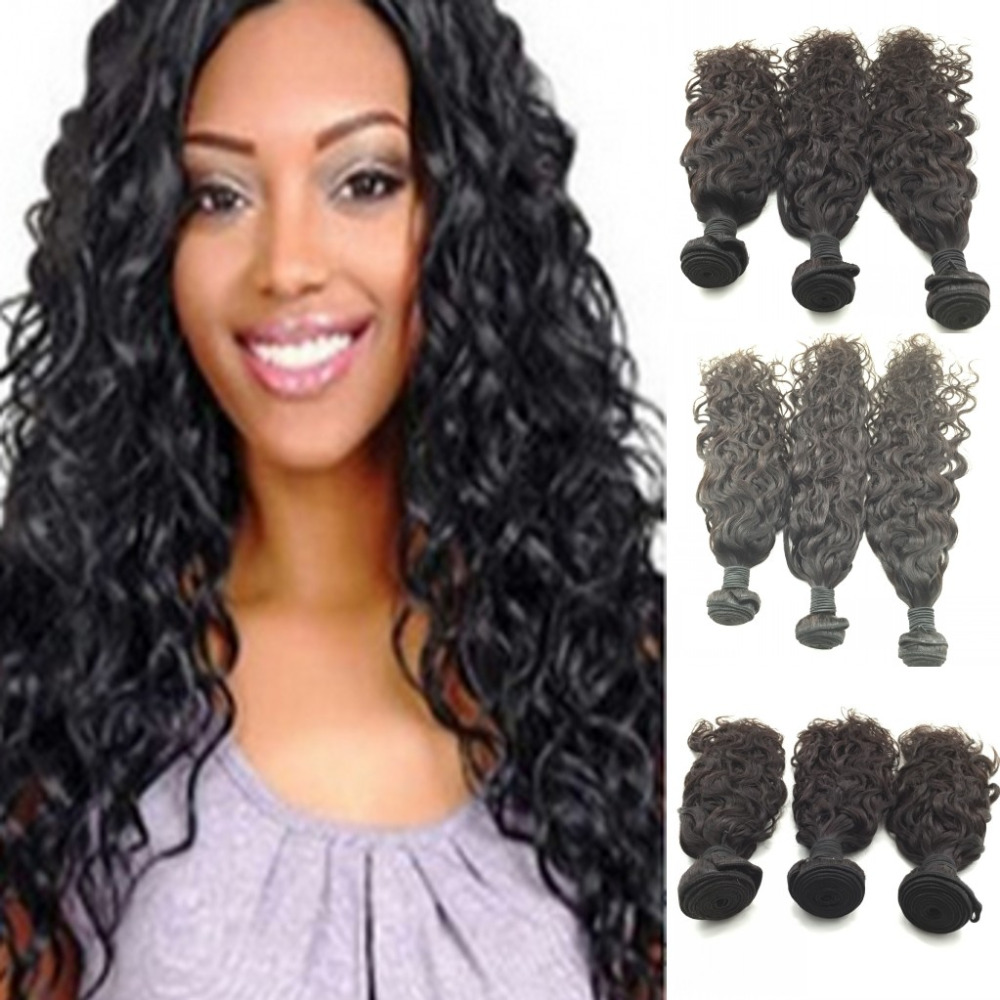 Indian Hair Natural Wave 3pcs/lot,Free Ship Hair Indian Wet And Wavy Hair Weaves,Unprocessed Indian Hair<br><br>Aliexpress