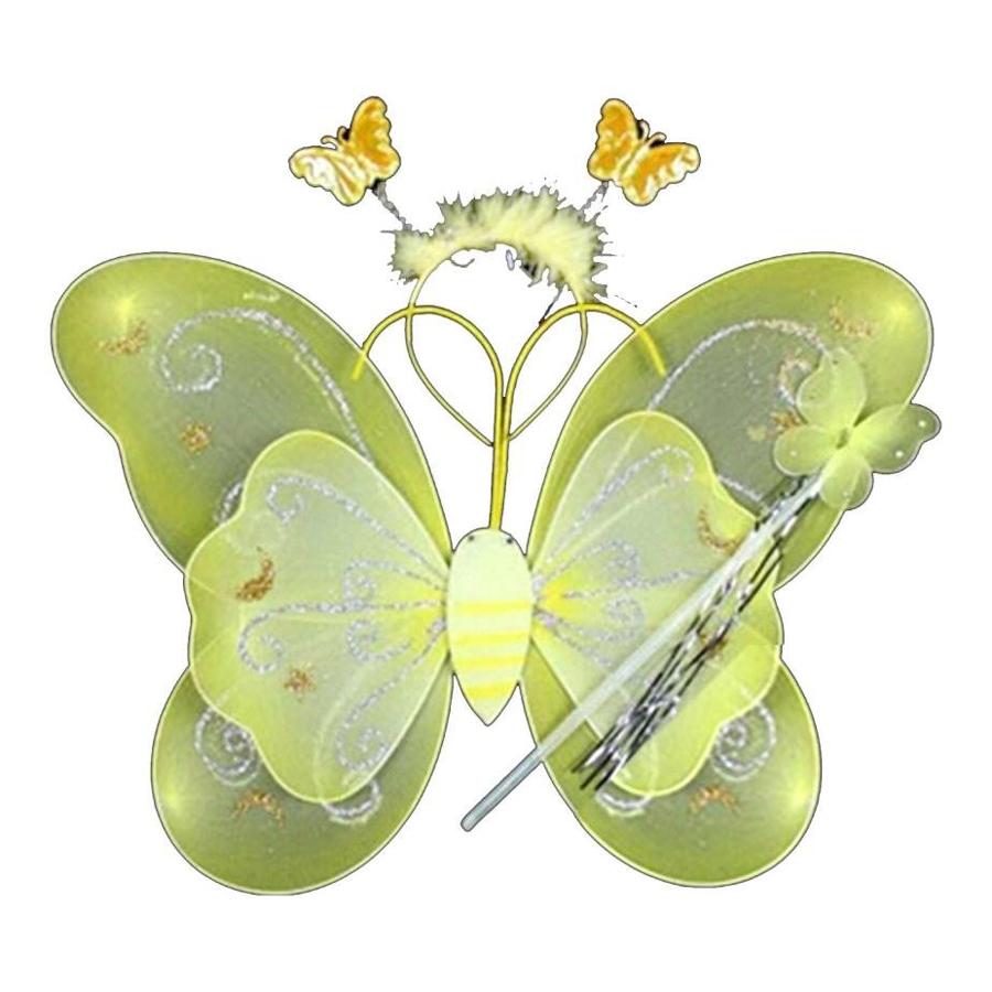 SEWS 3Pc Set Fairy Princess Butterfly Party Costume Wings Wand Headband(China (Mainland))