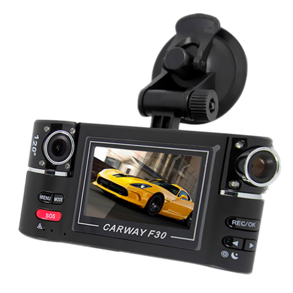 "Car Camera Dual Lens F30 2.7"" Car Camera Night Vision HD Car DVR Vehicle Driving Camcorder Video Recorder With Original Package"