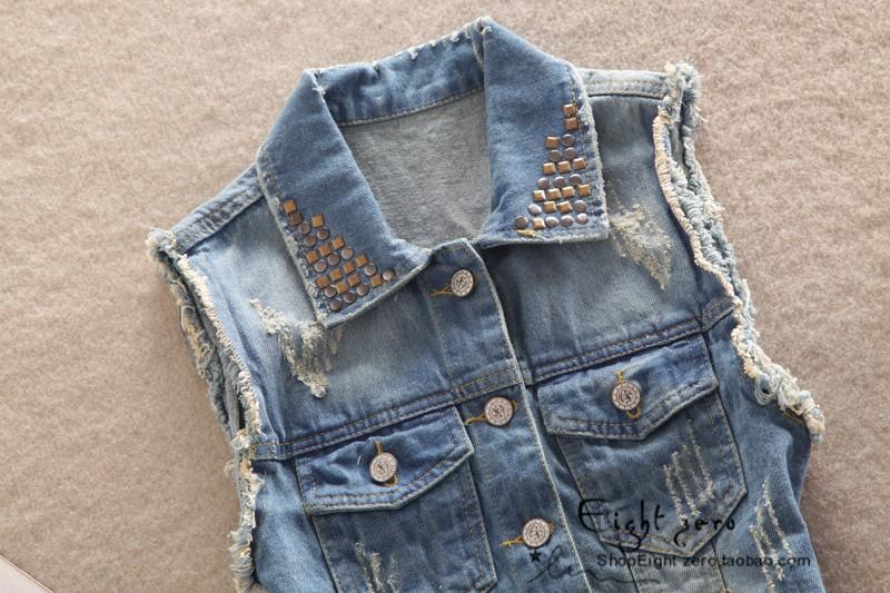 Как сделать рваную джинсовую жилетку