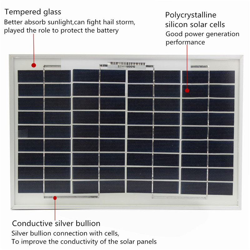 10W Watt polyCrystalline Cells Solar Panel 12V poly solar module Battery Charger(China (Mainland))