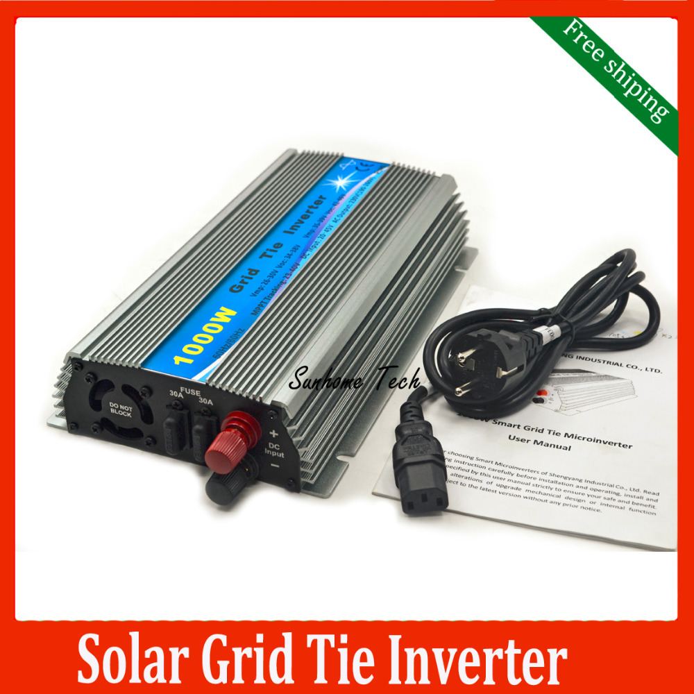 1000W solar Grid Tie Micro Inverter, Pure Sine Wave solar grid tie nverter 20-45V DC to AC 120/230V for 24V /36V PV panels(China (Mainland))