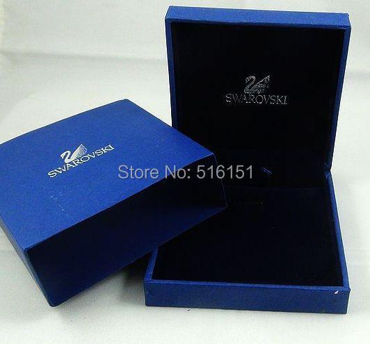 High quality wholesale jewelry box blue Pendant box packaging Velvet box clamshell box<br>