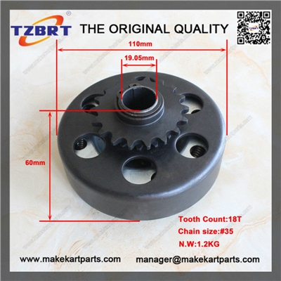 "Wholesale MINI ATV Clutch #35 chain 3/4"" bore size 18 Tooth for minibike up to 13hp(China (Mainland))"
