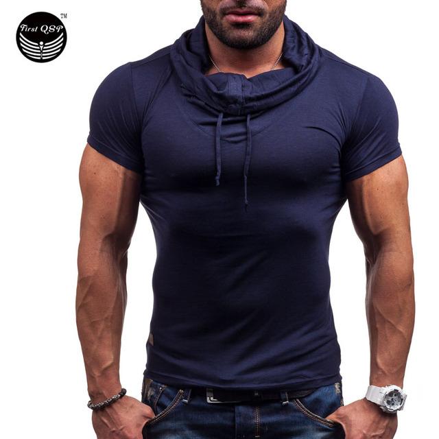 Поло Homme мужчин 2016 сплошной цвет с коротким рукавом рубашка свободного покроя ...