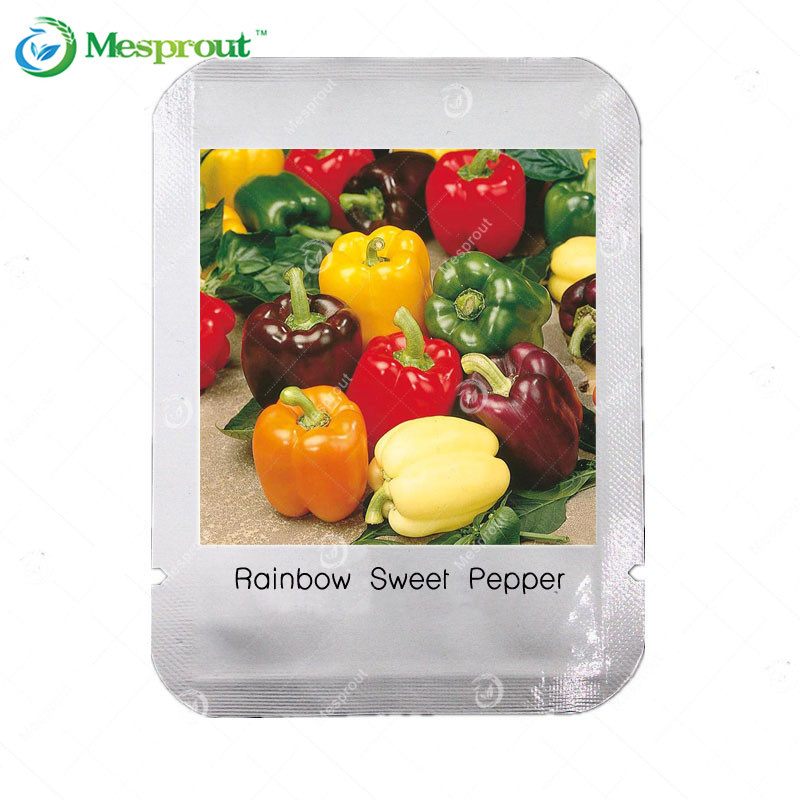 Rarest Mixed Sweet Pepper Seeds Orange Green Red Yellow Square , Professional Pack, 100 Seeds / Pack, Edible Tasty Vegetables(China (Mainland))