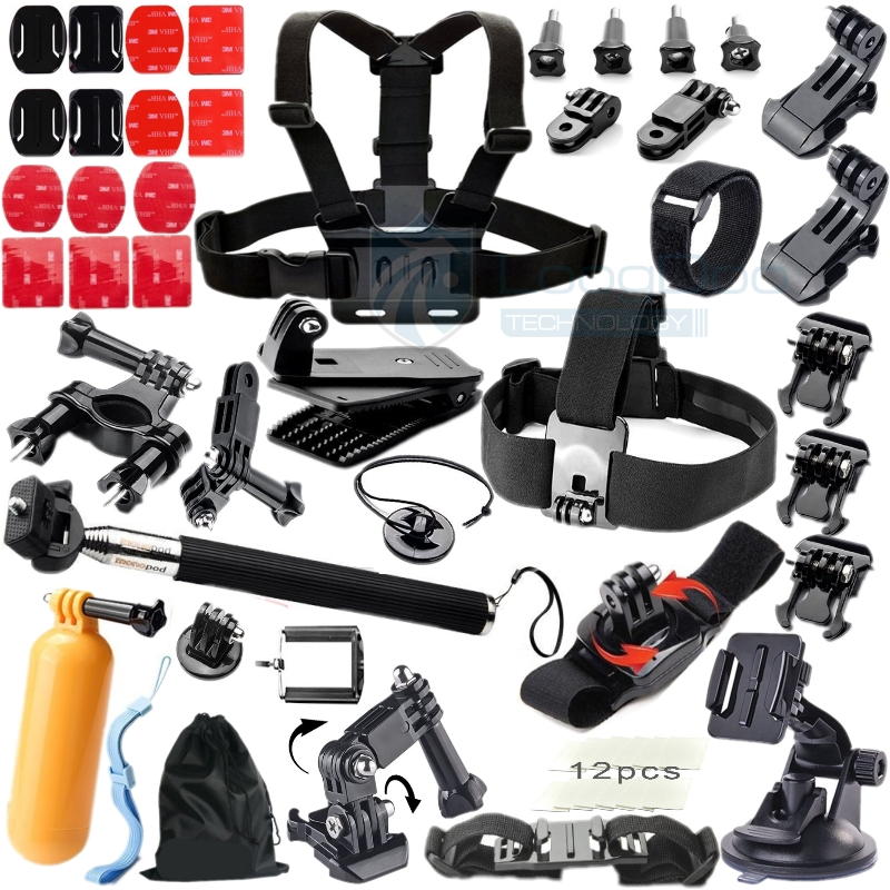 Gopro Accessories Floating Bobber Tripod stick Monopod Hand Head Chest Strap Adapter Set For Go pro
