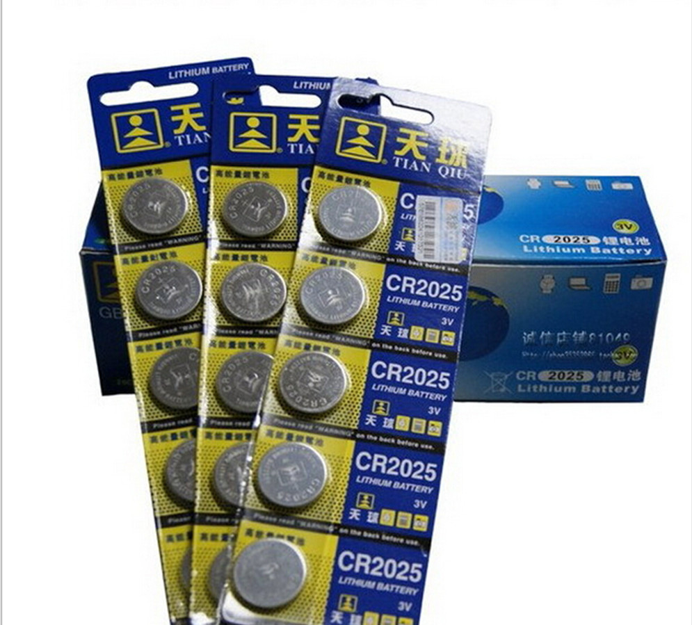 Free shipping 5 Pcs 3V LM2032 CR2032 Coin Cell Button Wholesale High Capacity Lithium Battery For Toys Remote/Watch(China (Mainland))