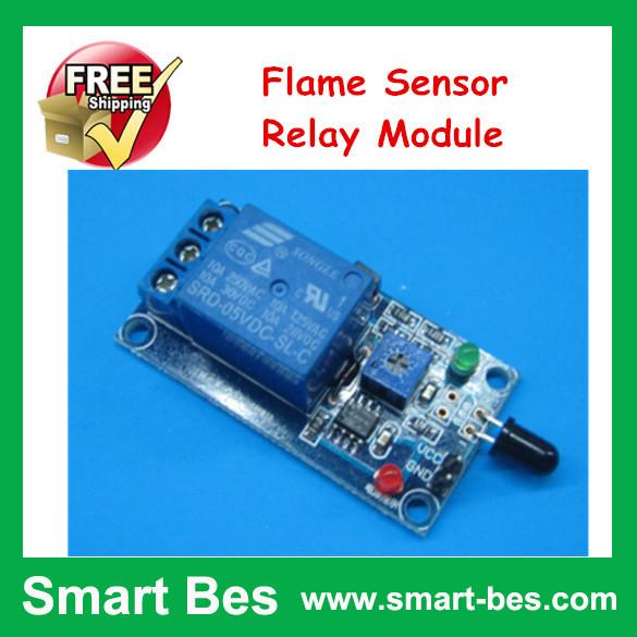 FreeShip 10pcs/lot Flame Sensor Relay Module, Burner Flame Sensor, Gas Ignition /Flame Sensor  Fire Alarm, Electrical Relay<br><br>Aliexpress