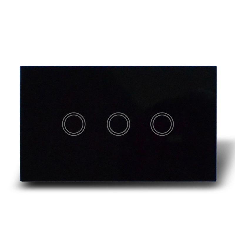 Настенный переключатель MakeGood , 120 * 72 /110/240 , 3 1 soft touch MG-US03B настенный переключатель makegood 1 1 mg uk01b