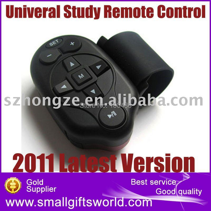 New Version Auto Car Universal Steering Wheel Study Remote Control for DVD GPS DC TV MP3 Player(China (Mainland))