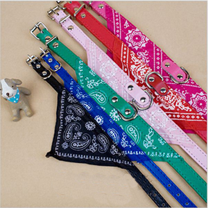 Free Shipping 2014 New  lefdy Pet collar  bow tie dog accessories teddy bear pet supplies necklace scarf  triangle