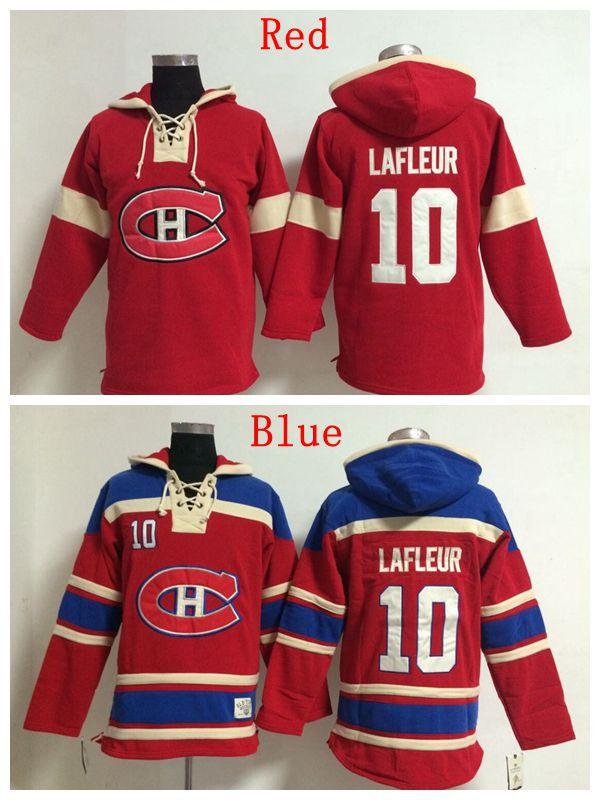 New Wholesale&Retail Mens Montreal Canadiens Hoodie Jerseys #10 Guy Lafleur Ice Hockey Hoodie,Accept Mixed Orders,Embroidery Log