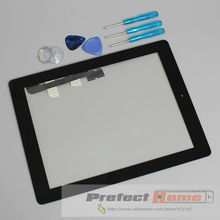 for iPad 3 Touch Screen Assembly Touch Glass Panel Complete Repair Replacement Black & White(China (Mainland))