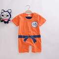 newborn baby rompers short sleeve 100 cotton cartoon baby boy clothes baby girl romper Dragon Ball