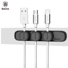Baseus Durable Magnetic Cable Clip USB Cable Organizer Clamp Desktop Workstation Wire Cord Management Cable Winder(China (Mainland))