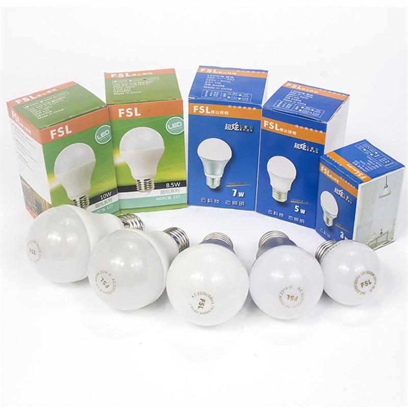 5pcs FSL E27 LED Bulbs 3W 5W 7W 10W for home, high brightness led appliance bulb G45 A19 A60 replacement led bulb free shipping(China (Mainland))